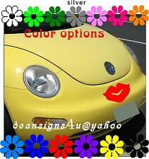 VW beetle large RED LIPS decal any car bumper window Hood Kiss graphic sticker