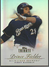PRINCE FIELDER 2012 TOPPS TRIBUTE CARD#18 BREWERS