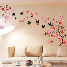 Wall Sticker Mural Decal Paper Art Decoration Blossom Flower 3D Butterfly Family
