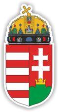 1x HUNGARY coat of arms STICKER bumper decal Aufkleber flag pegatina CAR WALL