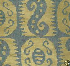 S. Harris Roxy Central Asian Suzani Blue Green poly viscose cotton Remnant