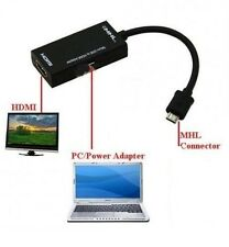 1080p MICRO USB TO HDMI MHL CABLE ADAPTER FOR GALAXY S2 HTC ONE EVO XPERIA T HD
