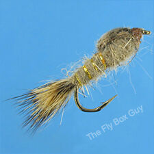 Hares Ear Gold Rib Premium Fly Fishing Flies - One Dozen - Sizes Available*