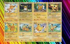 lot 8 cartes Pichu, Pikachu et Raichu différentes Françaises Neuves- Pokemon - B