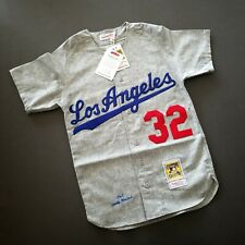 100% Authentic Sandy Koufax Mitchell Ness Dodgers 1963 Jersey Size 36 S Mens
