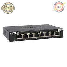 NETGEAR 8-Port Gigabit Ethernet Unmanaged Switch (GS308) - Desktop, Sturdy Metal