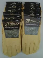 12 Pairs RANCHER by Plainsman Goatskin Leather Wholesale Work Gloves SMALL New