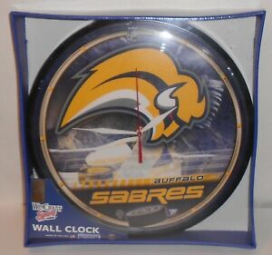 BUFFALO SABRES Wall Clock NEW! SEALED BOX! NHL Hockey Vintage Slug Logo