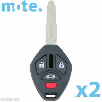 2 x Mitsubishi 380 2005 - 2008 Remote Key Blank Replacement Shell/Case/Enclosure