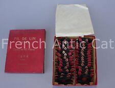 L747 Mercerie rare boite 30 cartes fil lin extra 40 F. F.R. ALOST noir belgique