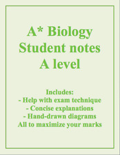 A* Biology A level student notes AQA, OCR, Edexcel and IB, years 1 and 2 (PDF)