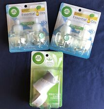 Air Wick Pure Scented Oil Refill 2 Pack Fresh Linen Lot of 2 with Plug In New