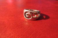 Schöner 925 Silber Ring Spirale unisex Modern Design