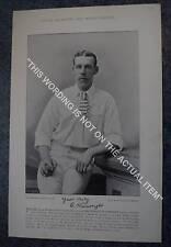RARE Original Famous Cricketers, #013 Edward Wainwright, Yorkshire, Cricket 1895