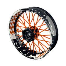 Felgenaufkleber Motorrad Felgenrandaufkleber Wheelsticker SMC GRID orange - W
