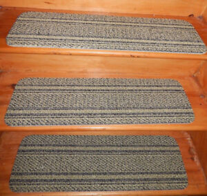 """13 = Step Indoor Stair Treads Staircase  9"""" x 30"""" Carpet  soft backing."""