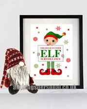 Elf Surveillance Poster Print - Fun Christmas Gift Decoration For On The Shelf 2