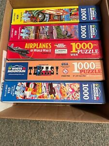 White Mountain Puzzles 5 Used 1000 pieces