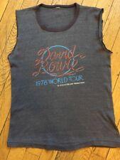 True Vintage Original David Bowie 1978 Winterland Concert Tour Shirt Iggy Pop S