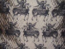 "Brunschwig & Fils ""Cavalier Figured Horseman""  by the yard color pewter"