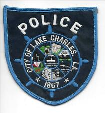 CLEAN Lake Charles Louisiana Police patch Vintage? Antique?