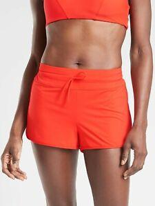 NWT Athleta S Vermillion Kata Surge Short Bikini Tankini Bottom Board Short