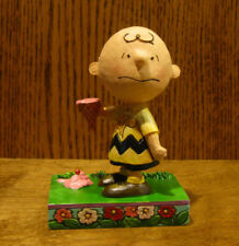 Jim Shore PEANUTS #4055657 CHARLIE BROWN w/ ICE CREAM, From Retail Store, Enesco