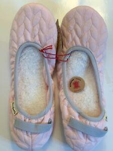 """Dearfoams Pink Gel Infused Memory Foam """"love life"""" Women's XL Slippers, foldable"""