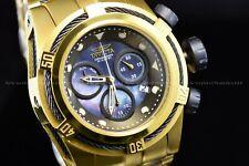 Invicta 53MM Bolt ZEUS Swiss Black & 24K Gold Mother of Pearl Bracelet SS Watch