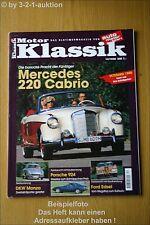 Motor Klassik 12/98 DB 220 Cabrio Porsche 924 DKW Ford