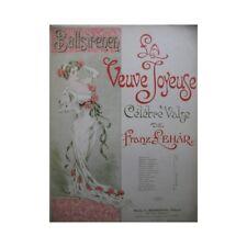 LEHAR Franz La Veuve Joyeuse Valse pour Piano partition sheet music score