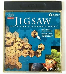Philips CD-i CDi 699 029-2 Jigsaw The Ultimate Electronic Puzzle L555