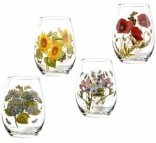 Portmeirion Botanic Garden stemless floral wine glass set of 4