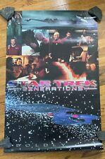 "Star Trek Generations Movie Poster 1994 Boldly Go Original 35"" X 23"""