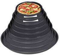 Pizzablech Pizzaform Backblech Ofenblech Blaublech Pizzableche Rund 20-50cm NEU