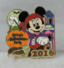 Disney DLR Pin Mickey's Halloween Party 2016 Pin Minnie Mouse Pirate LE 1000