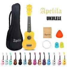 More details for apelila 21 inch mahogany soprano beginner ukulele pick gig bag with strap - uk