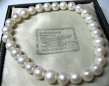 Pretty VINTAGE Style Natural Fresh water Baroque Pearl Bead stretch Bracelet