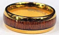 Men's Gold Tungsten Wedding Band Ring,Gold Tungsten Carbide Wedding Ring Band