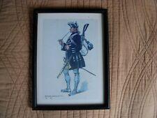 cadre ancien imagerie armée Soldat Napoléon signé Edmond Lajoux