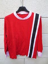 VINTAGE Maillot porté n°10 KOPA HEURTEFEU coton shirt 70's rouge trikot jersey