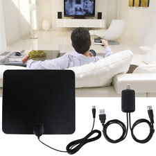 TV Antenna HDTV Flat HD'Digital Indoor Amplified 50-Mile Range TVFox VHF UHF WQH