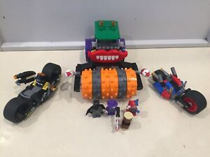 Lego DC Comics sets 76053 Gotham City Cycle Chase 76013 The Joker Steam Roller