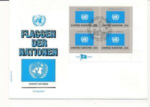 D112878 Flag Series United Nations FDC United Nations New York Bureau