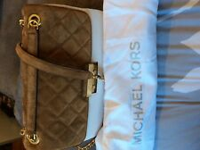 Michael Kors Sloan Large Chain Quilted Suede Shoulder Bag