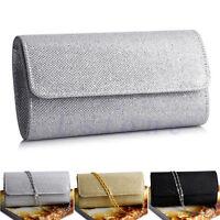 New Women Evening Shoulder Bag Bridal Clutch Party Prom Wedding Envelope Handbag