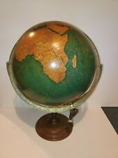"VINTAGE CRAMS 16"" WORLD POLITICAL TERRESTRIAL LIGHT UP LIGHTED GLOBE TABLE BASE"