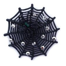 Black Widow Spider Web Brooch Pin Necklace Pendant Halloween Fashion Jewelry p6