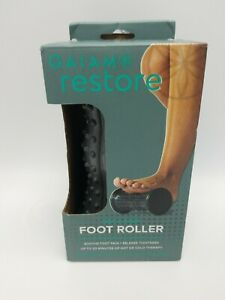 Gaiam Restore Hot / Cold Foot Massage Roller Massager Foot Pain Relief Grey