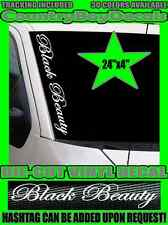 BLACK BEAUTY VERTICAL Pillar Windshield Vinyl Decal Sticker Car Truck Diesel Gas